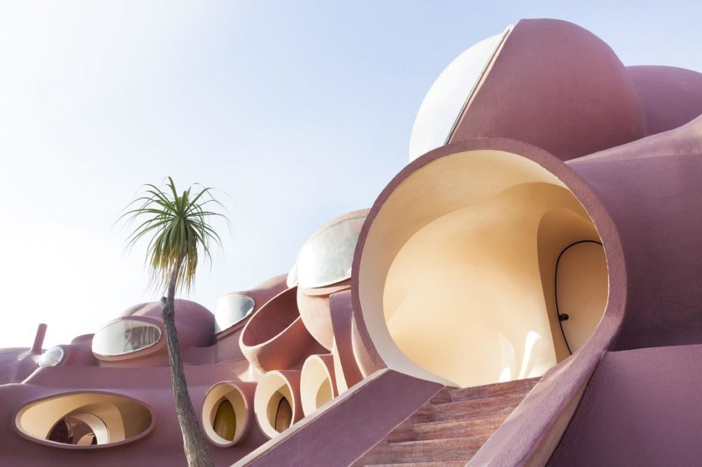 Vue bulles extérieur palmier Pierre Cardin