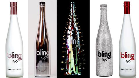 Bling bouteille eau h2o luxe