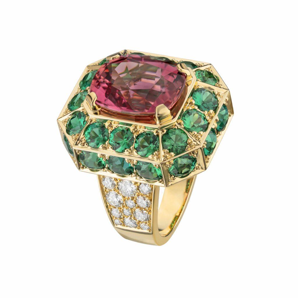 Chanel haute joaillerie vert or rouge