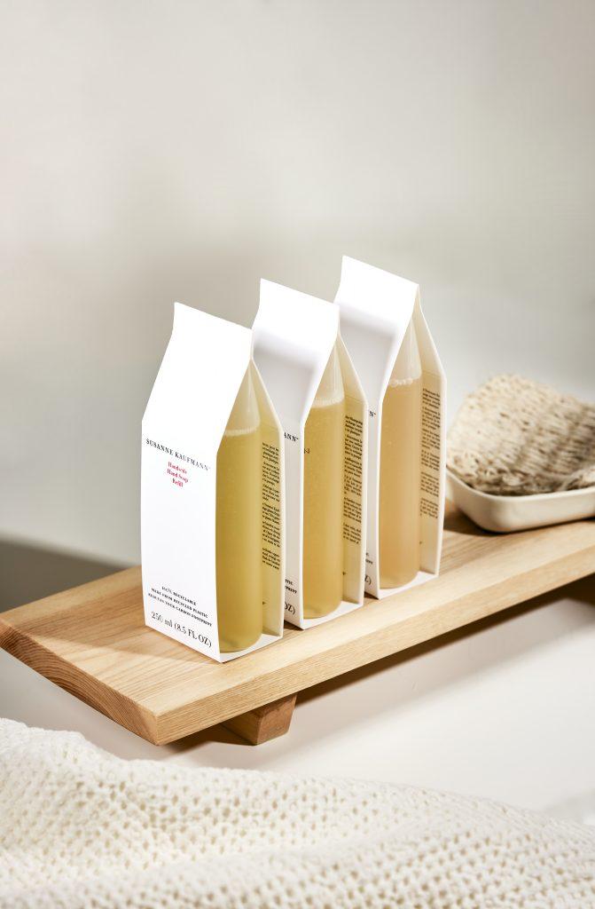 tubes de savons de beauté de luxe Susanne Kaufmann