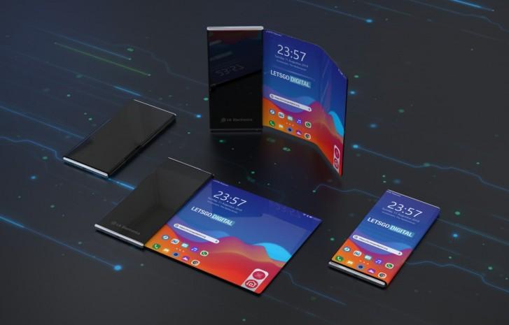 téléphone pliable noir luxe LG