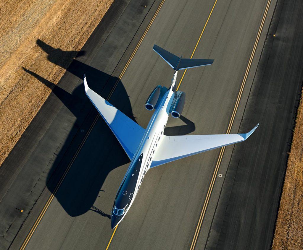 Avion photo prise de haut luxe jet privé