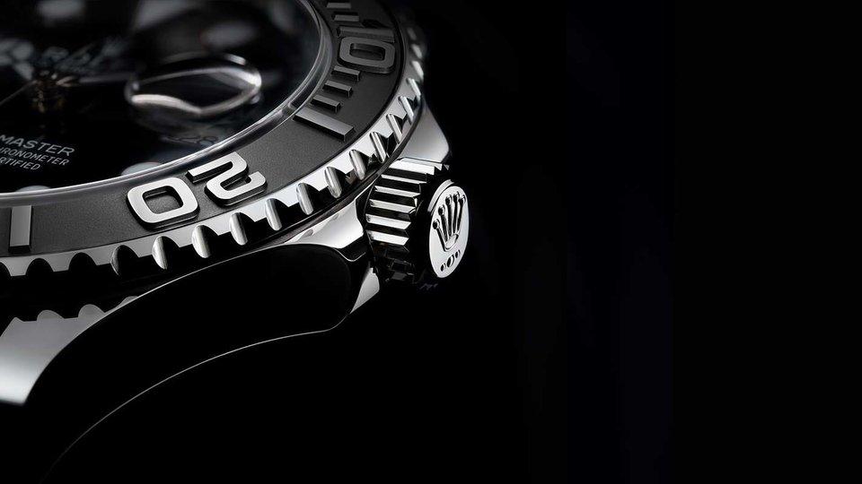 Rolex noir argent luxe