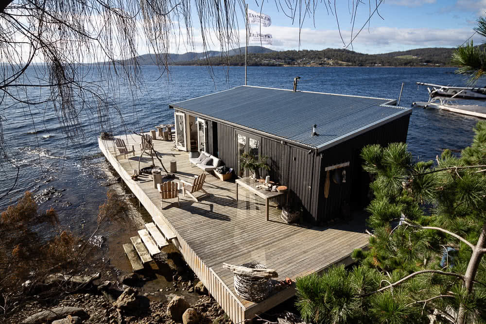 Cabane ile luxe mer aurores boreales