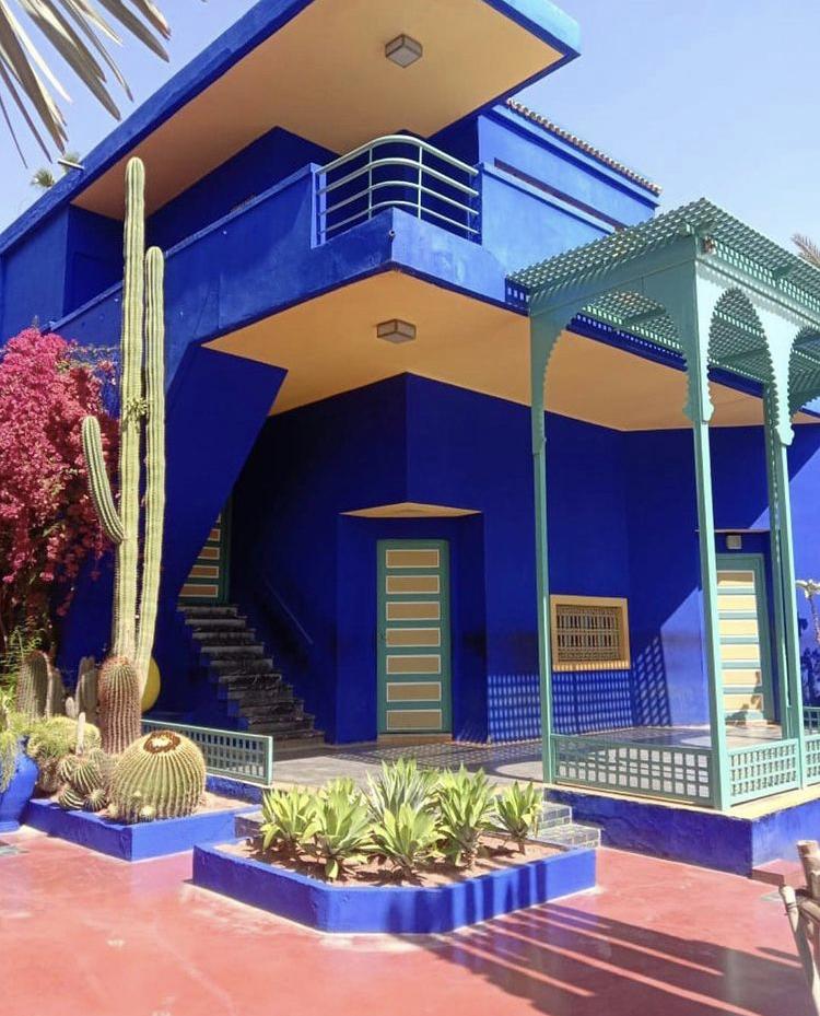 Le Musée Yves Saint Laurent Marrakech le bleu majorelle