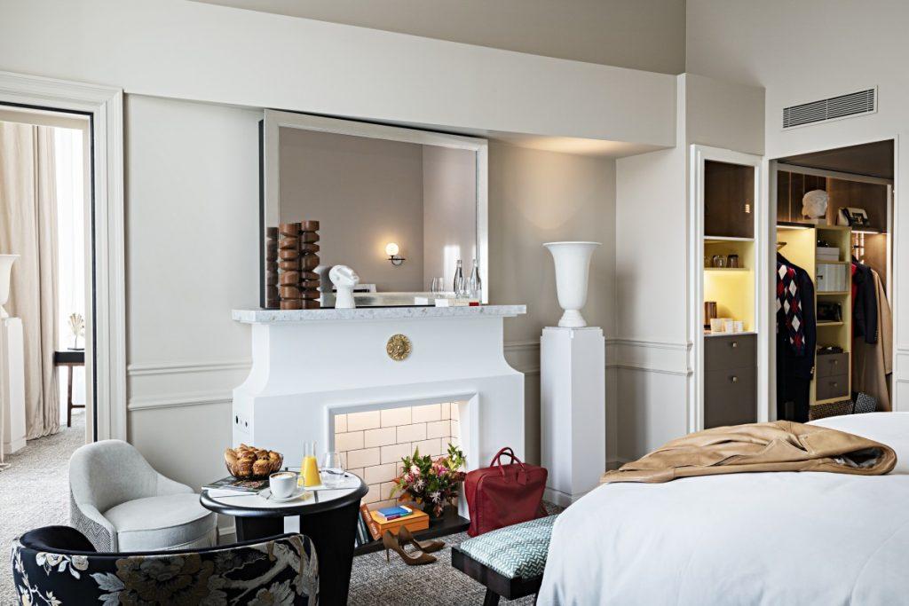 Cheminée hôtel de luxe hôtel scribe