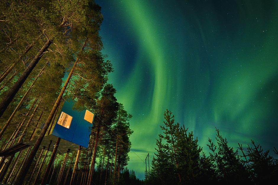 Tree house hotel luxe aurores boréales