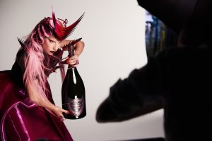 Poster rose lady gaga luxe champagne dom perignon rouge