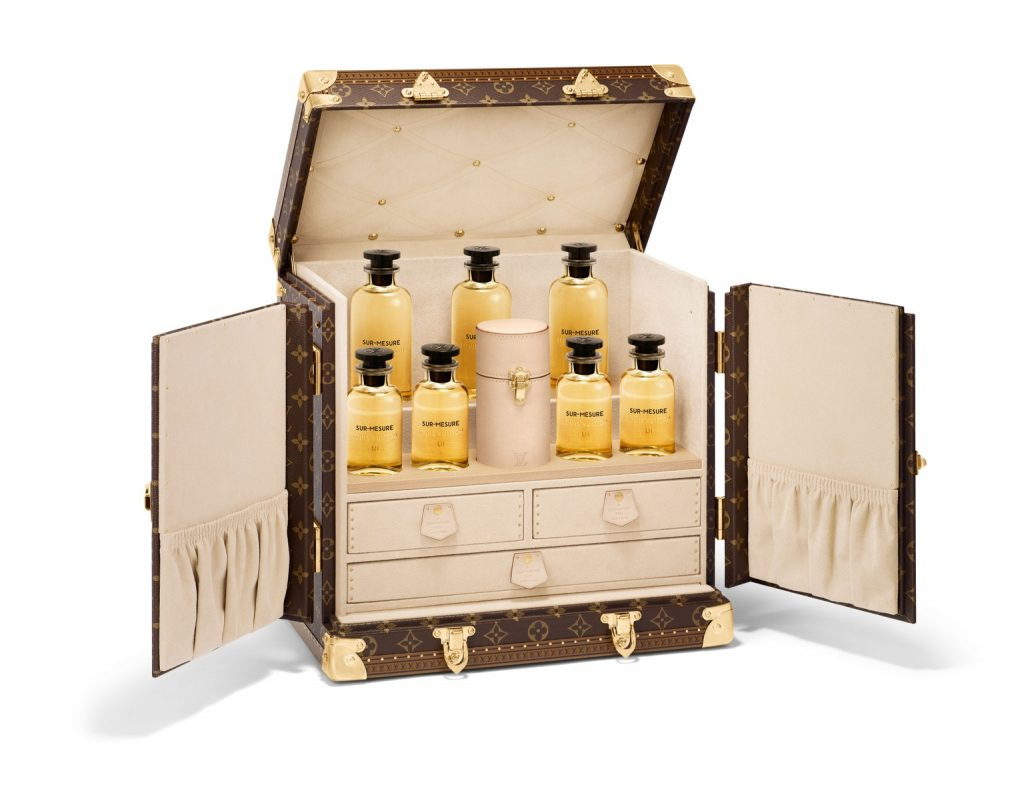 Malle Louis Vuitton Parfum sur mesure luxe prix paris