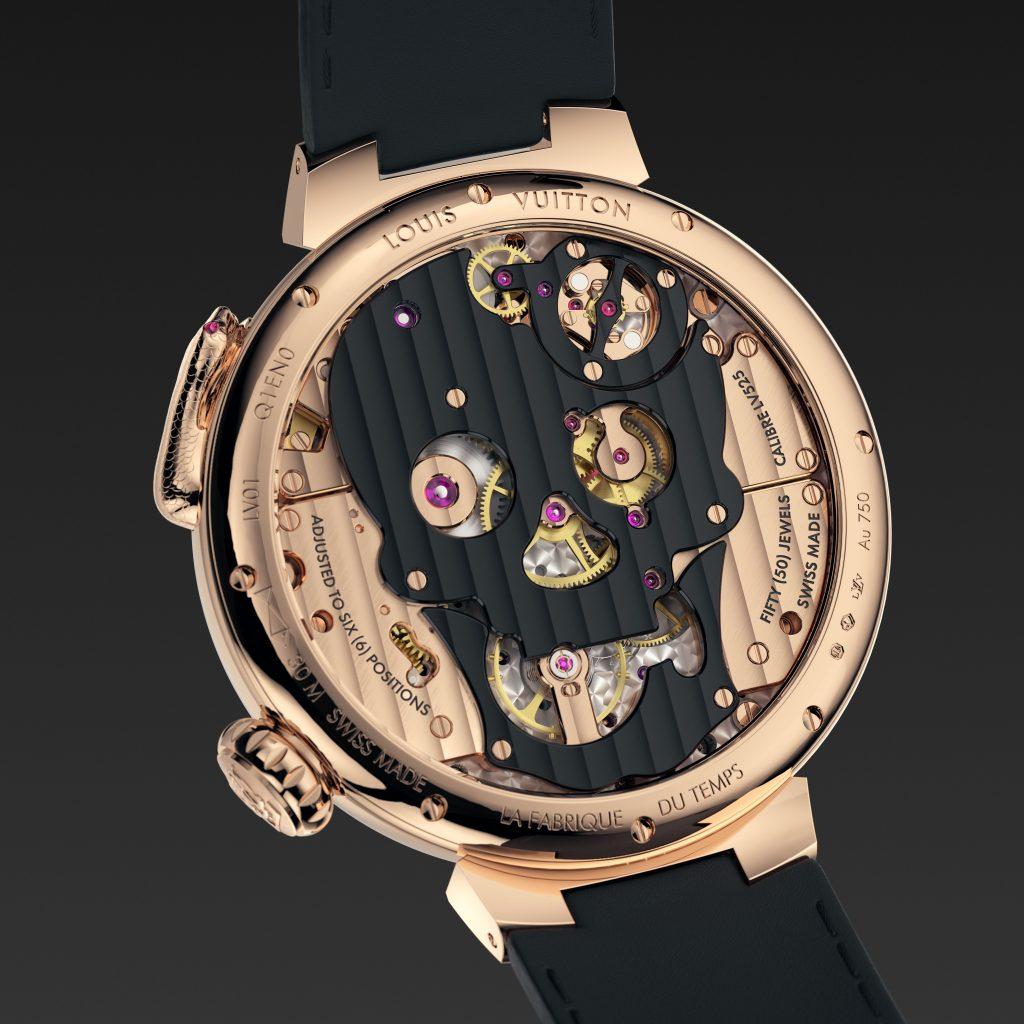 Louis Vuitton Tambour Carpe Diem Crâne Serpent de dos jacquemart fond vissé- Minute Luxe Magazine