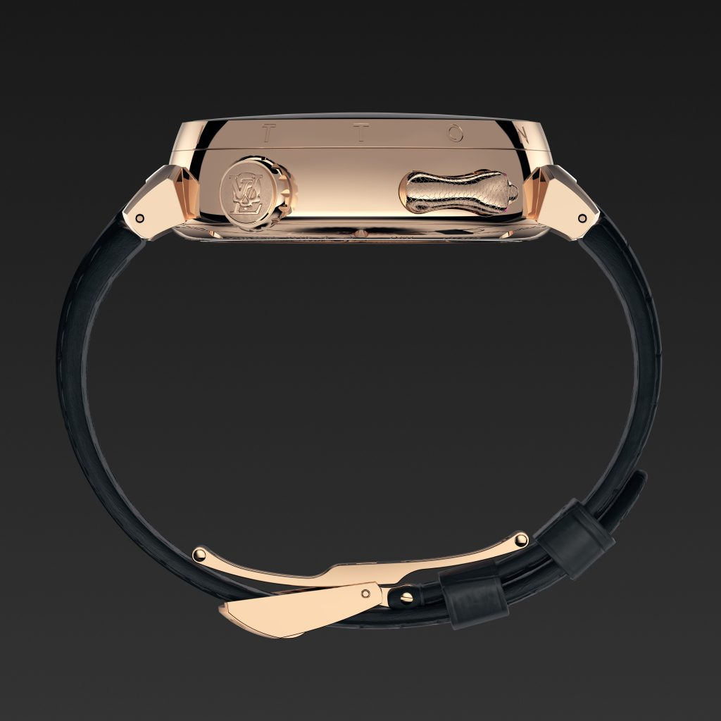 Louis Vuitton Tambour Carpe Diem Crâne Serpent Epaisseur- Minute Luxe Magazine