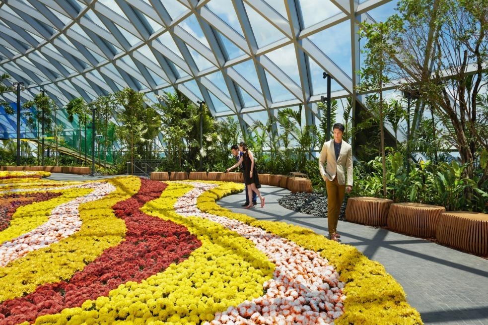 Fleurs Parc Aéroport Jewel Changi - Minute Luxe
