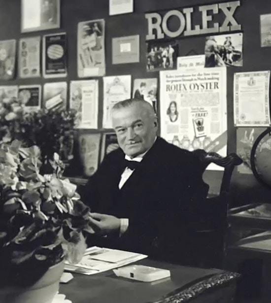 Hand Wilsdorf histoire fondateur Rolex montre de luxe