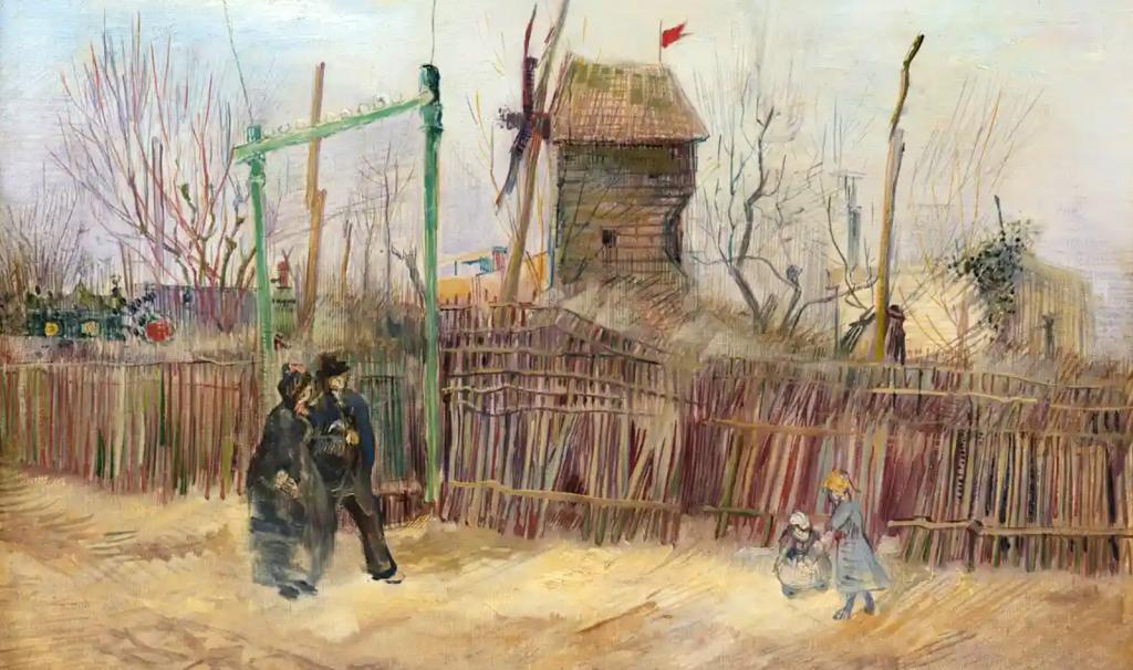 Scene de rue montmartre tableau Van Gogh