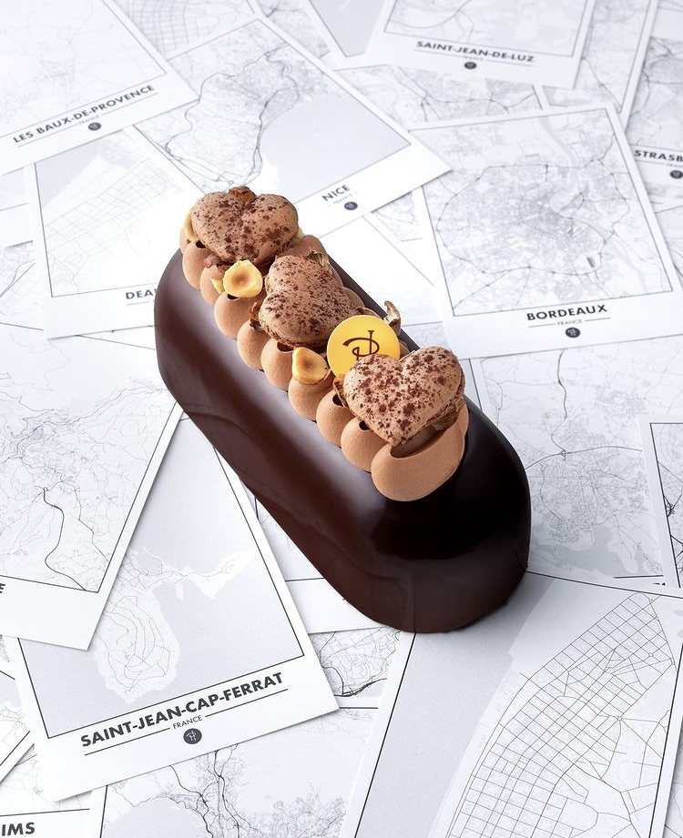 Entremet Pierre Hermé pâtisserie de luxe chocolat
