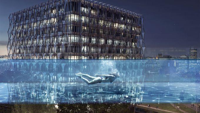 Sky pool élévation projet piscine transparente londres Minute Luxe Magazine