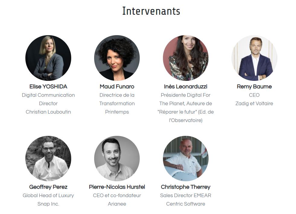 intervenants Webinar Le Journal du Luxe - Minute Luxe
