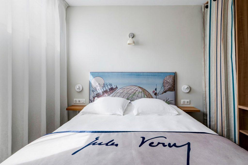hôtel littéraire Biarritz Jules vernes chambre lit double
