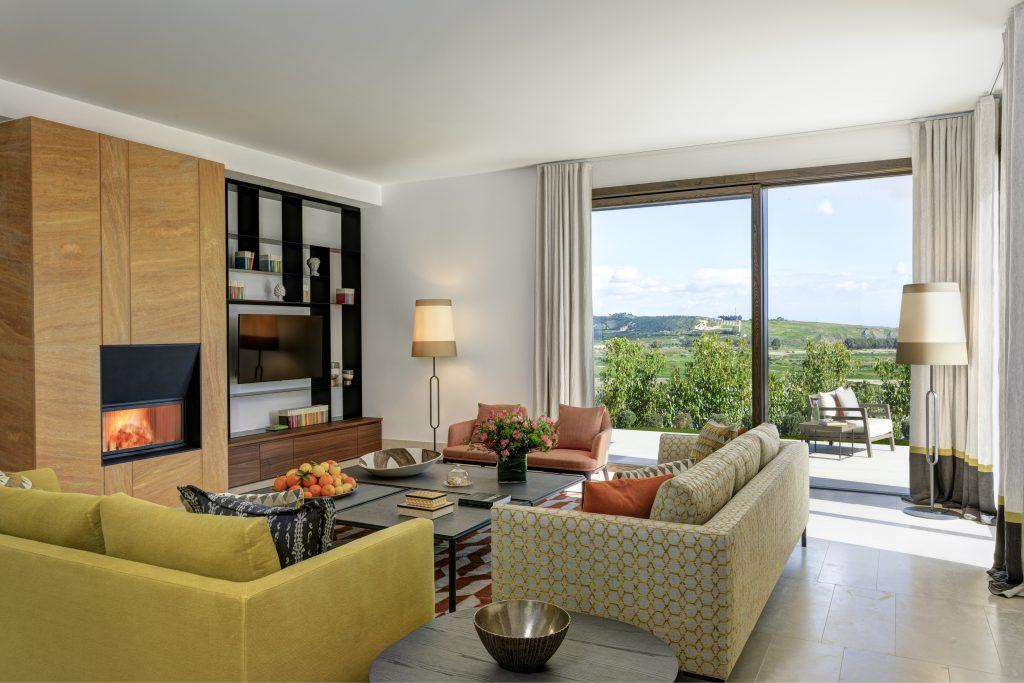 Rocco Forte Private Villas Verdura Resort Sicile Minute luxe magazine salon séjour