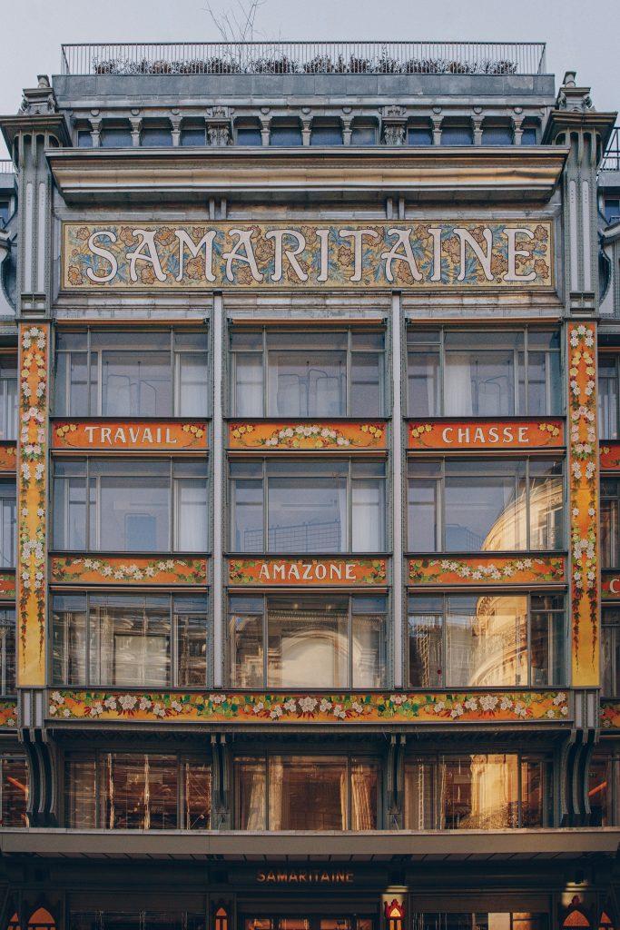 La façade monnaie ancienne rue de Rivoli de la Samaritaine