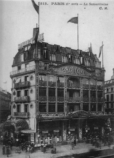 La Samaritaine autour de 1900 photo ancienne époque noir et blanc avant travaux