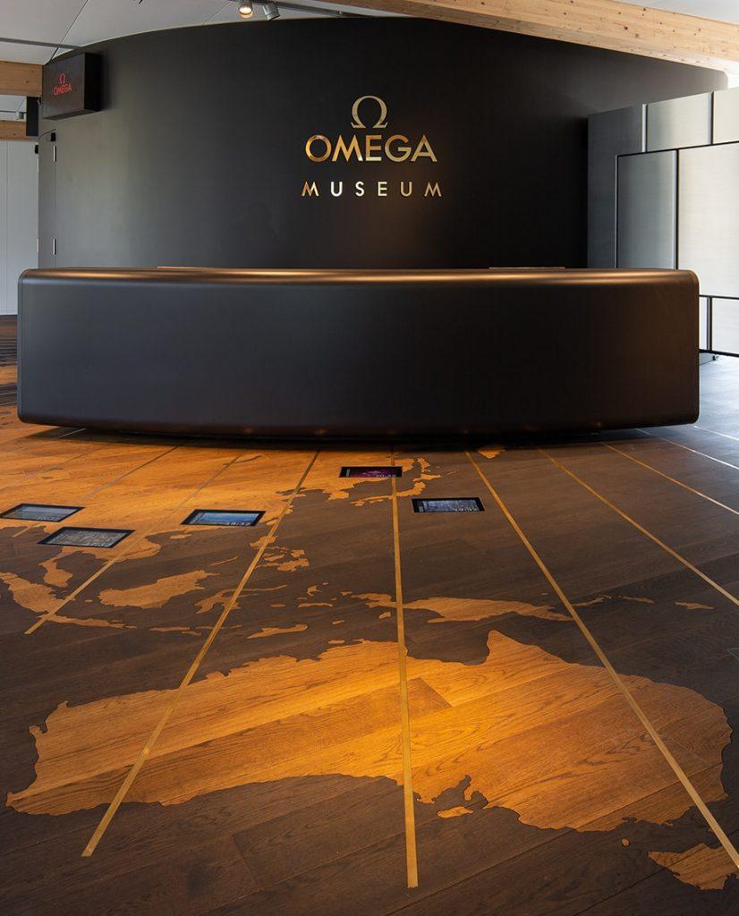 Musée OMEGA Entrée Vitrine Montre Patrimoine